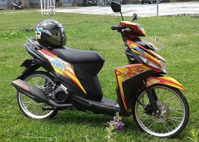 modifikasi motor mio m3 125 cc