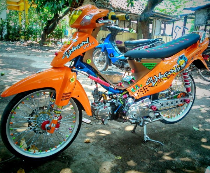modifikasi motor shogun